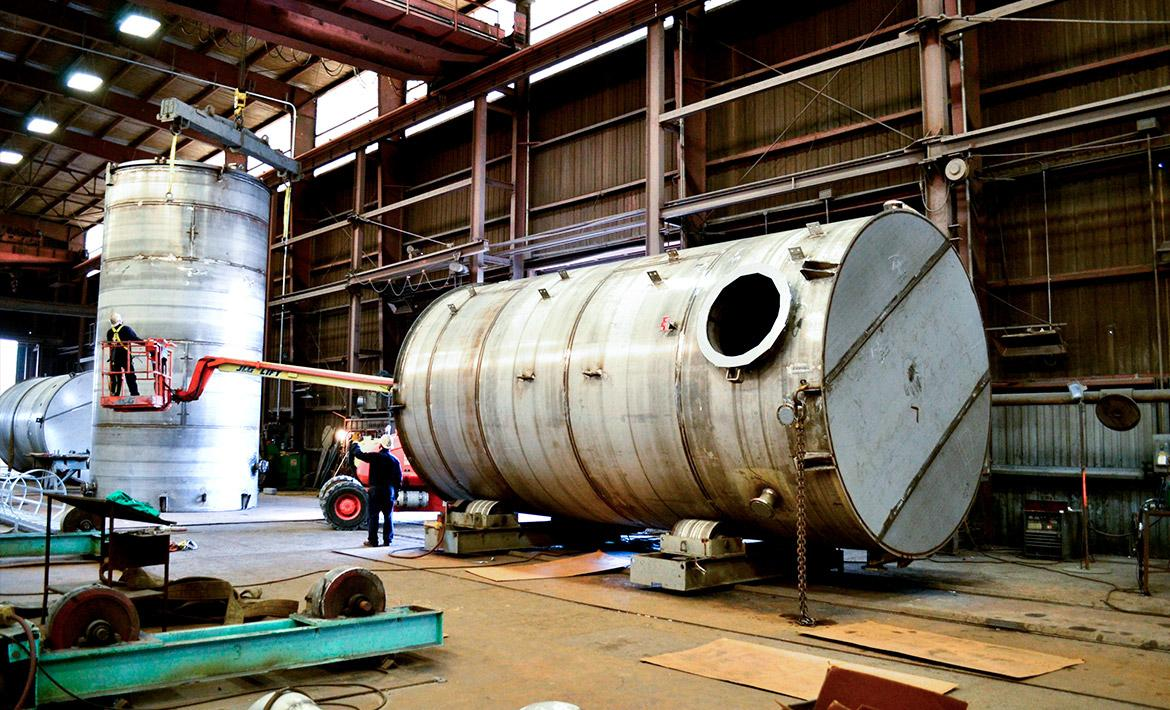 Stainless Steel API tanks for wastewater treatment plant